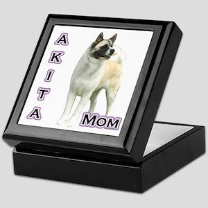 Akita Mom4 Keepsake Box