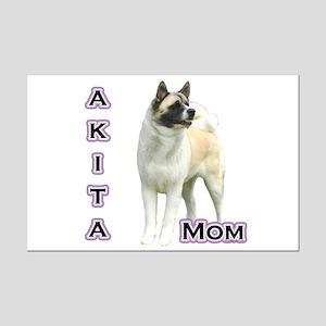 Akita Mom4 Mini Poster Print