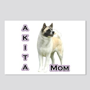 Akita Mom4 Postcards (Package of 8)