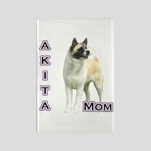 Akita Mom4 Rectangle Magnet