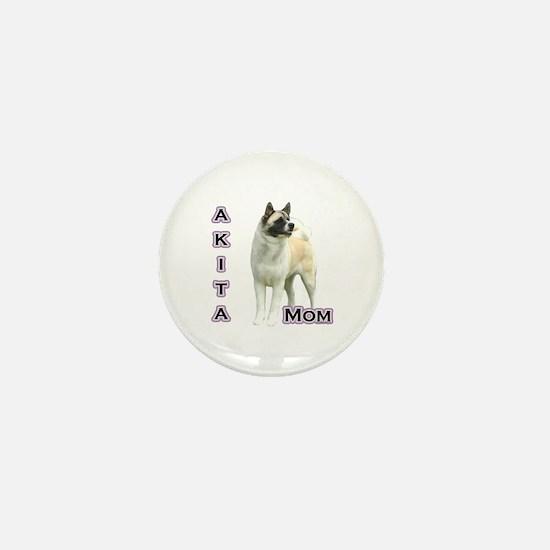 Akita Mom4 Mini Button