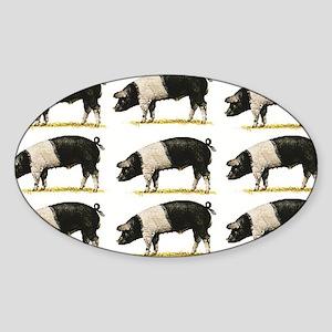 pig rows art Sticker
