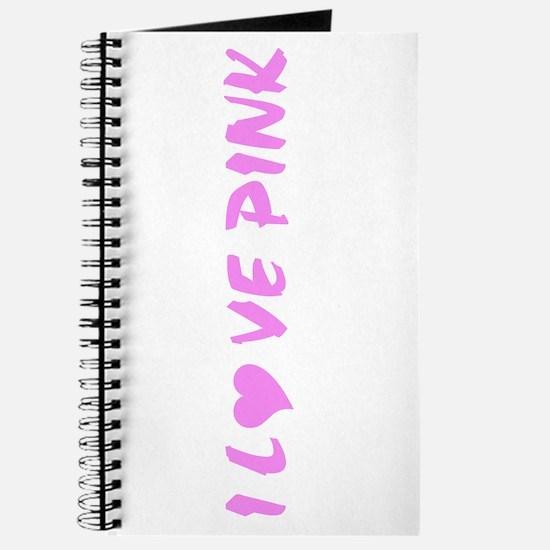I Love Pink Journal