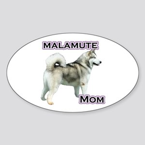 Malamute Mom4 Oval Sticker