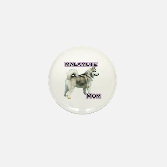 Malamute Mom4 Mini Button