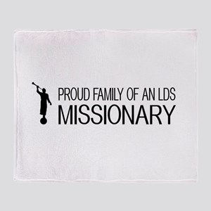 LDS: Proud Missionary Family (White) Throw Blanket