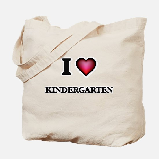 I Love Kindergarten Tote Bag