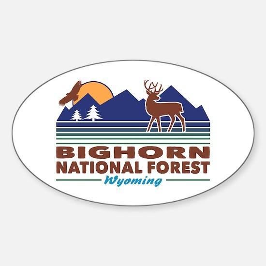 Bighorn National Forest Sticker (Oval)