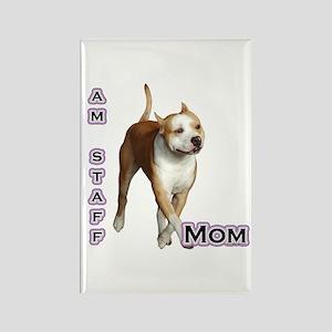Staffy Mom4 Rectangle Magnet