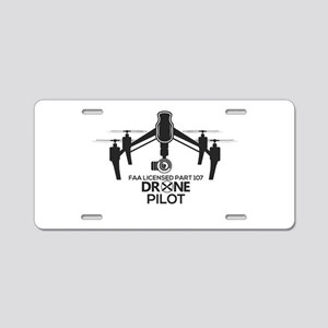 Faa Licensed Inspire Part Aluminum License Plate