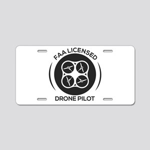 Faa Licensed Drone Pilot Aluminum License Plate