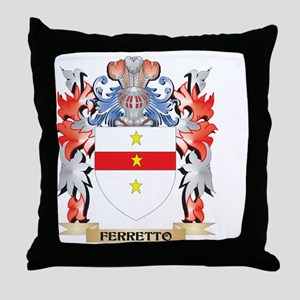 Ferretto Coat of Arms - Family Crest Throw Pillow