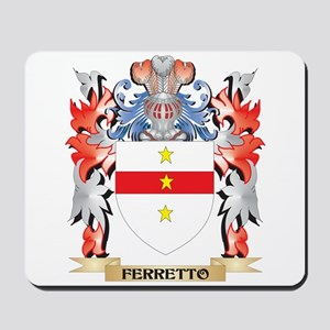 Ferretto Coat of Arms - Family Crest Mousepad