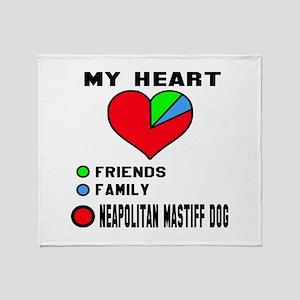 My Heart, Friends, Family, Neapolita Throw Blanket