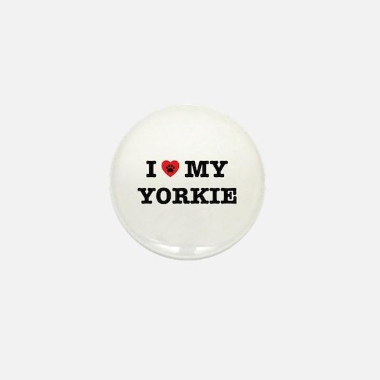I Heart My Yorkie Mini Button