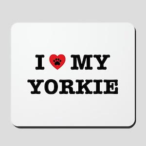 I Heart My Yorkie Mousepad