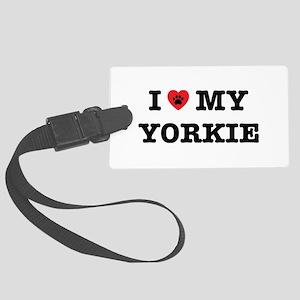 I Heart My Yorkie Large Luggage Tag