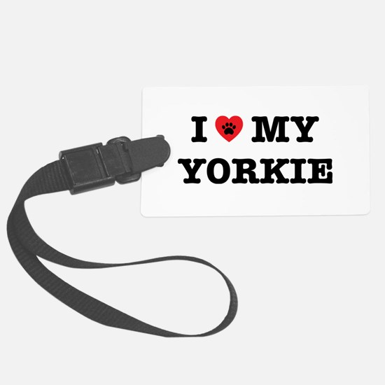 I Heart My Yorkie Luggage Tag