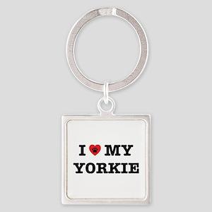 I Heart My Yorkie Keychains