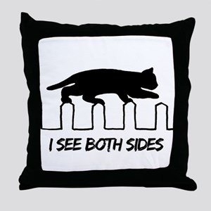 I see both sides Throw Pillow