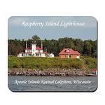 Raspberry Island Lighthouse 2 Buildings Mousepad
