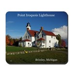 Point Iroquois Lighthouse Fall Mousepad