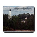 Michigan Island Lighthouses Mousepad