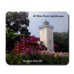 40 Mile Point Ligthouse Spring Mousepad