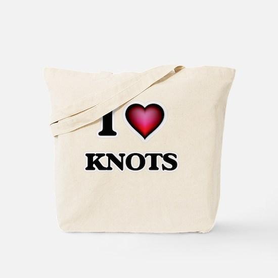 I Love Knots Tote Bag