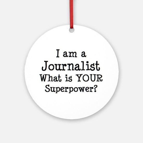 journalist Round Ornament