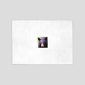 black bear head 5'x7'Area Rug