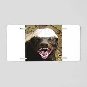happy sugar badger Aluminum License Plate