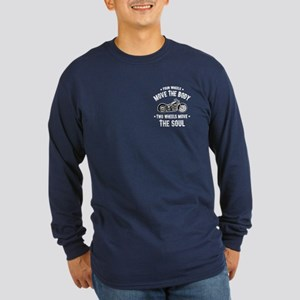 2 Wheels Move 1016 Long Sleeve Dark T-Shirt