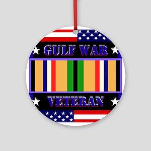 Gulf War Veteran Round Ornament