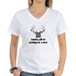 Hunters Will Do Anything For A Buck Women's V-Neck