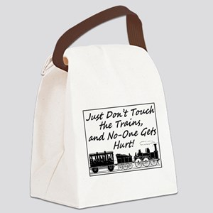 Don't Touch the Trains Canvas Lunch Bag
