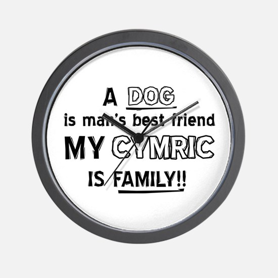 Cymric Cat Is My Family Wall Clock