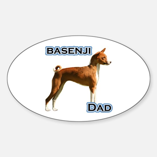 Basenji Dad4 Oval Decal