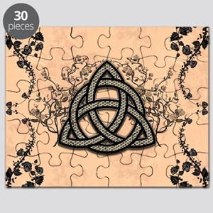 The celtic knot made of metal Puzzle