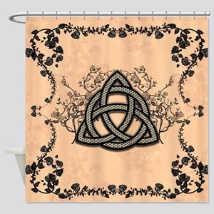 The celtic knot made of metal Shower Curtain