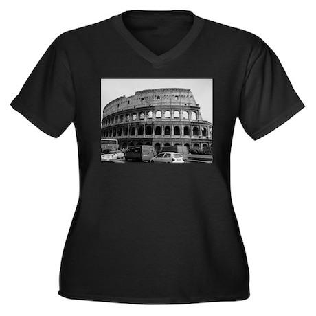 Colosseum Women's Plus Size V-Neck Dark T-Shirt