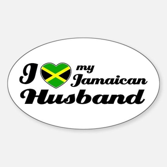 Jamaican Husband Oval Decal