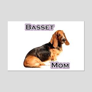 Basset Mom4 Mini Poster Print
