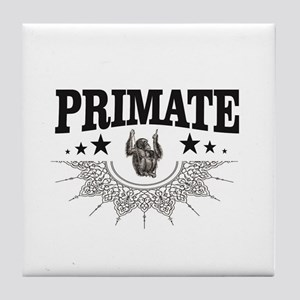 one monkey is the primate Tile Coaster