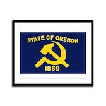 New Oregon Flag Framed Panel Print