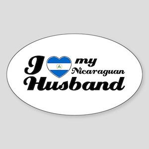I love my Nicaraguan Husband Oval Sticker
