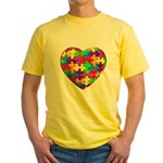 Jelly Puzzle Heart Yellow T-Shirt