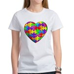 Jelly Puzzle Heart Women's T-Shirt