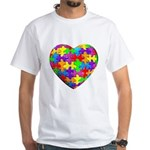 Jelly Puzzle Heart White T-Shirt