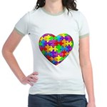 Jelly Puzzle Heart Jr. Ringer T-Shirt